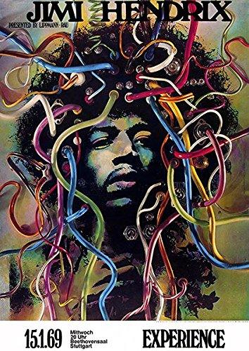 Jimi Hendrix Experience - Stuttgart Germany - 1969 - Concert Poster