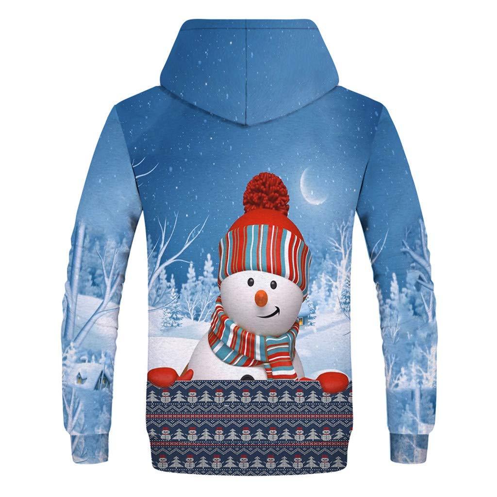 Sunnywill Herren Herbst Outwear Sweatjacke Winterjacke Windbreaker Weihnachtsspa/ß H/ässlicher 3D Druck Langarm Weihnachtsoberteil