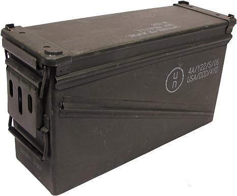 MFH Caja para munición del ejército estadounidense, tamaño 5, 46 x 15,5 x 25 cm, caja de herramientas, caja de metal GC escondite: Amazon.es: Deportes y aire libre