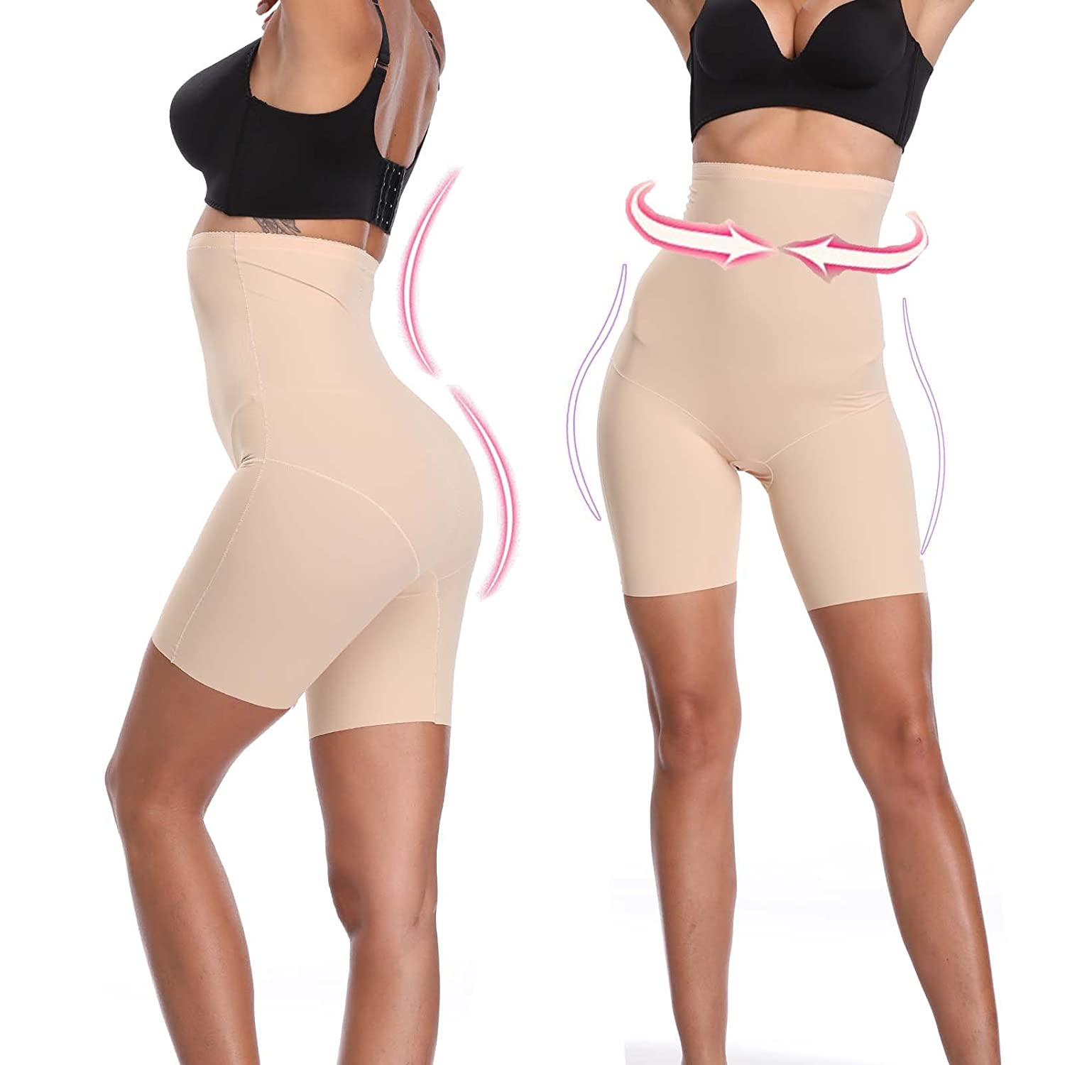 797610cb0d0ae Joyshaper Thigh Slimmer Shapewear for Women High Waisted Tummy Control  Slimming Hip Enhancer Butt Lifter Knickers Pants Panties Booty Shorts Underwear  Body ...