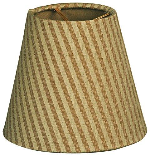 Royal Designs CS-949-6GGS Hardback Empire Chandelier Lamp Shade, Gold/Green
