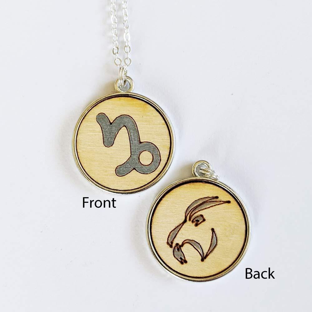 Wood jewelry or trinket box with Aries the Zodiac symbol