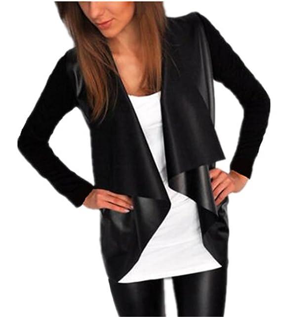 Tayaho Blusas Manga Larga Mujer Outwear Finos Ligero Tops Costura Patchwork Chaquetas Suelto Elegantes Abrigos Sencillos