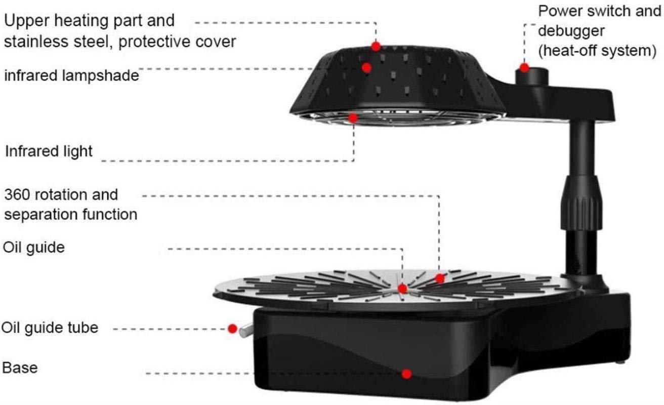 per interni esterni griglia da tavolo elettrica Teppanyaki piastra antiaderente 42 * 37 cm con temperatura regolabile Barbecue Elettrico barbecue con piastra riscaldante per barbecue