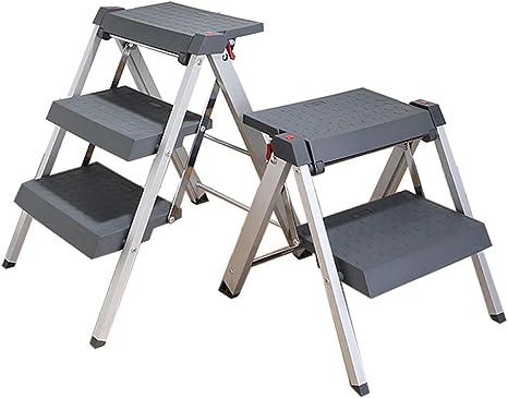 N/A Escalera Plegable Taburete de la Cocina Instalación Gratuita Conveniente Plegable Silla Plegable para el Hogar Herramientas de Hardware Escalera para Niños,Tres Capas de e,Un tamaño: Amazon.es: Deportes y aire libre