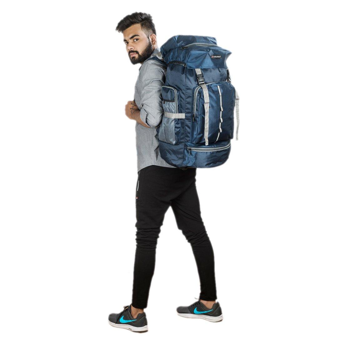 Indian Riders Lightweight Travel Hiking Rucksack Bag Navy Blue- 50 L