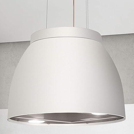 Luna 572380 - Campana extractora (diámetro de 45 cm, efecto mate), color blanco: Amazon.es: Grandes electrodomésticos