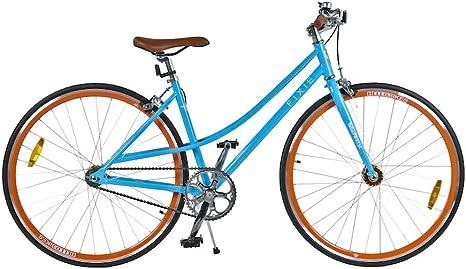 HelloBikes Eco Fixie - Bicicleta para Mujer, Color Azul: Amazon.es ...
