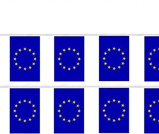 Durabol Cadena Bandera de Europa Comunidades autónomas de España 7 Banderin 20 X 30 CM - 5 Metro (Europa): Amazon.es: Jardín
