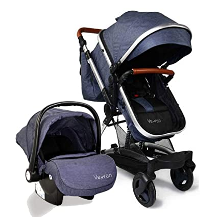 Carro bebé 3 piezas, capazo + silla de paseo + silla de ...