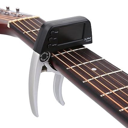 Dilwe Guitarra Electrica Capo,Metal de Cambio Rápido con Una Sola Mano (Guitarra Acoustica