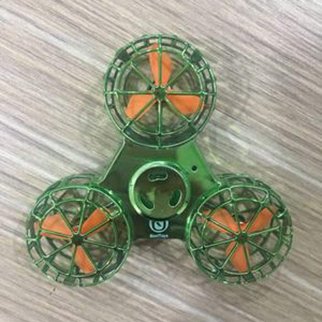 YIFNJCG Giroscopio Giratorio Aire Gyro descompresión Juguete Yema del Dedo Flying Gyro Juguete (Color : Green)