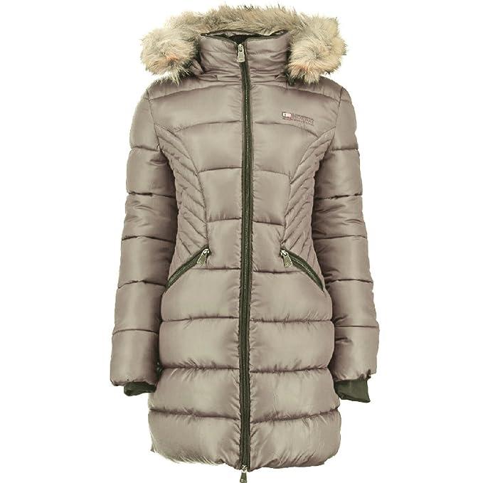 Geographical Norway - Abrigo - Parka - para Mujer Pardo XL: Amazon.es: Ropa y accesorios