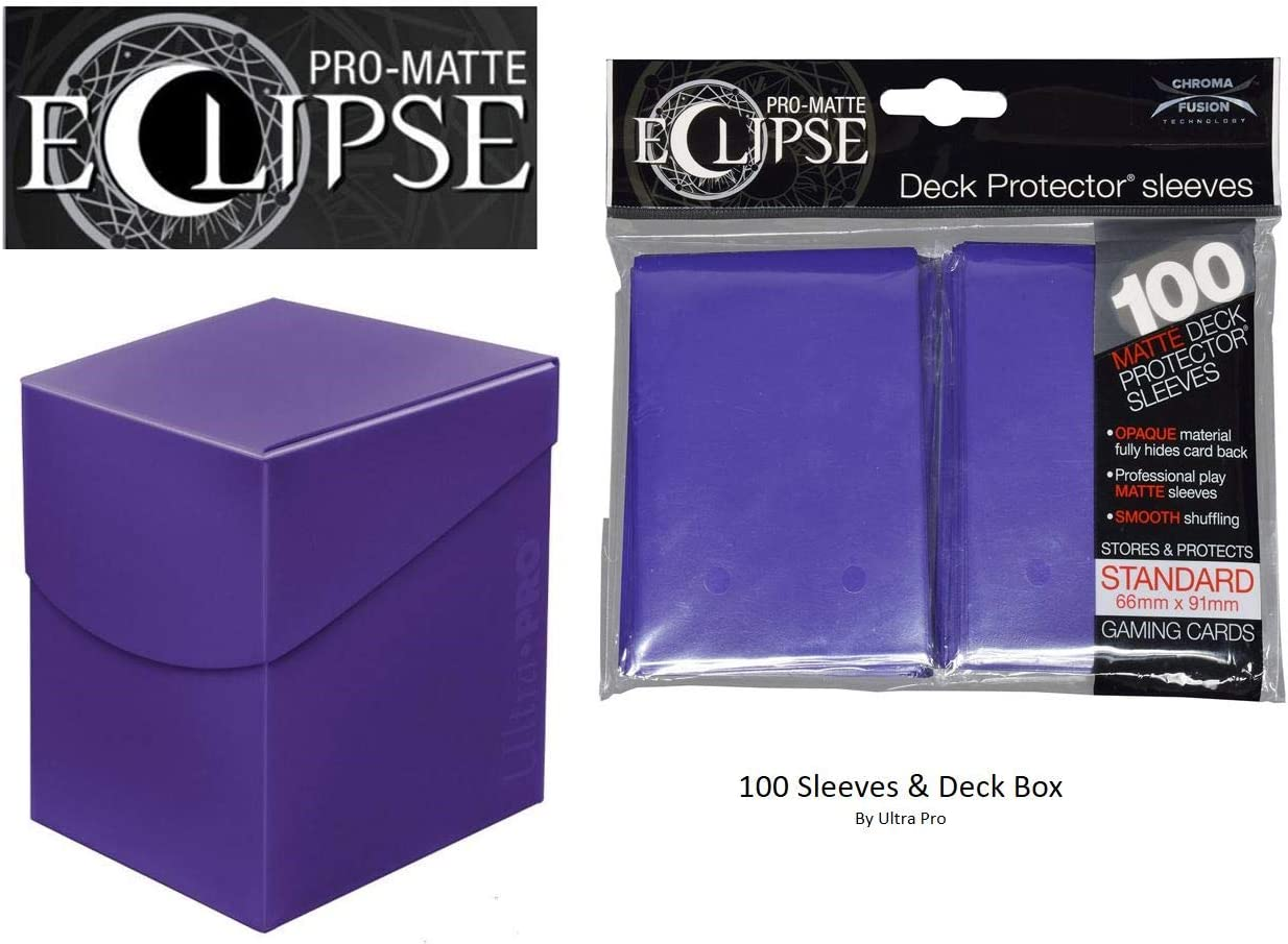 100 Ultra Pro Eclipse Royal Purple Pro Matte Deck Protector Sleeves Brand New