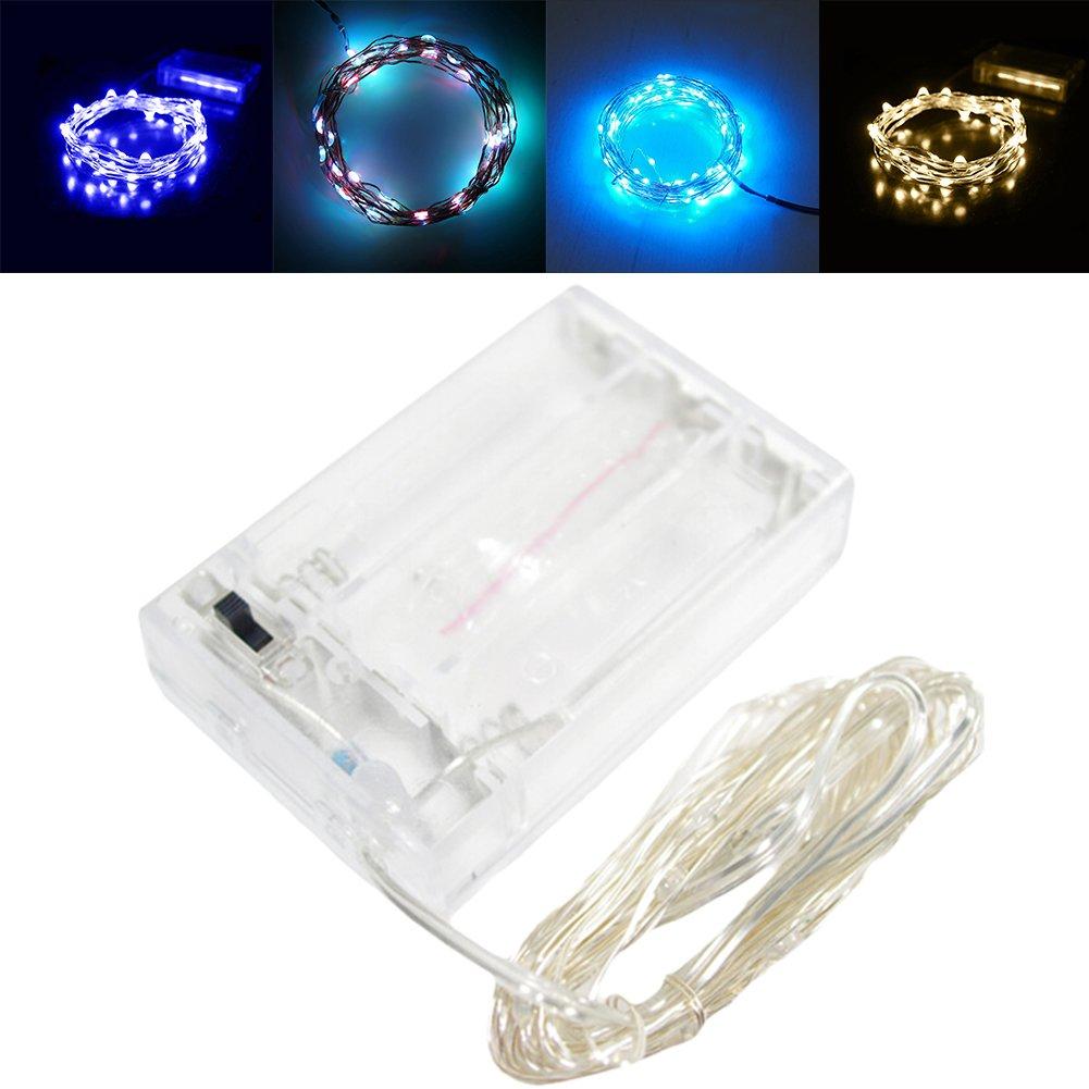 2M 20 LED Kupfer Lichterkette Lampe Kupferdraht wasserdicht Batterie ...