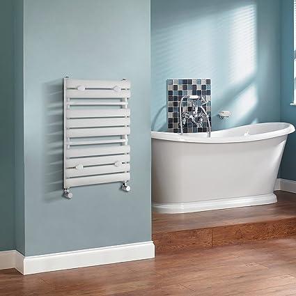 Hudson Reed - Radiador Toallero Compacto en Acero Blanco Para Baño / Cocina - 650 x