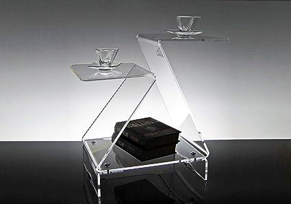 Slato Tavolino Basso Da Salotto Design Moderno In Plexiglass Trasparente Selene Amazon It Casa E Cucina