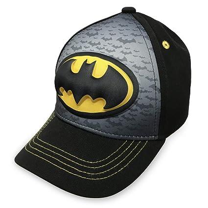 sale retailer 37bb3 15f31 Amazon.com  Batman-Logo Boys Flat Bill Snap Back Baseball Hat, Youth  Toys    Games