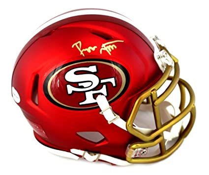 e18991a2398 Image Unavailable. Image not available for. Color  Ronnie Lott Autographed  Mini Helmet - Riddell ...