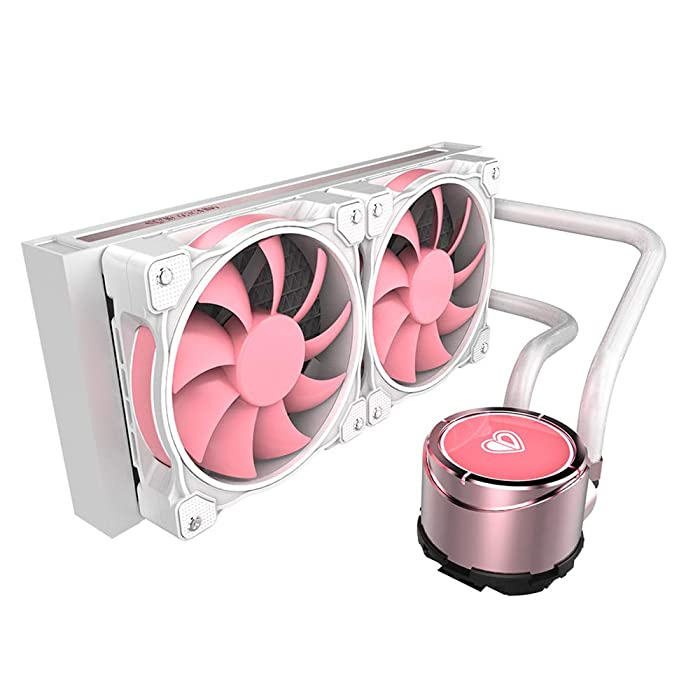 ID-COOLING PINKFLOW 240 Pink Addressable RGB Closed Loop AIO CPU Liquid Cooler, MB Sync/RF Control, Intel LGA115X/2066 & AMD TR4/AM4