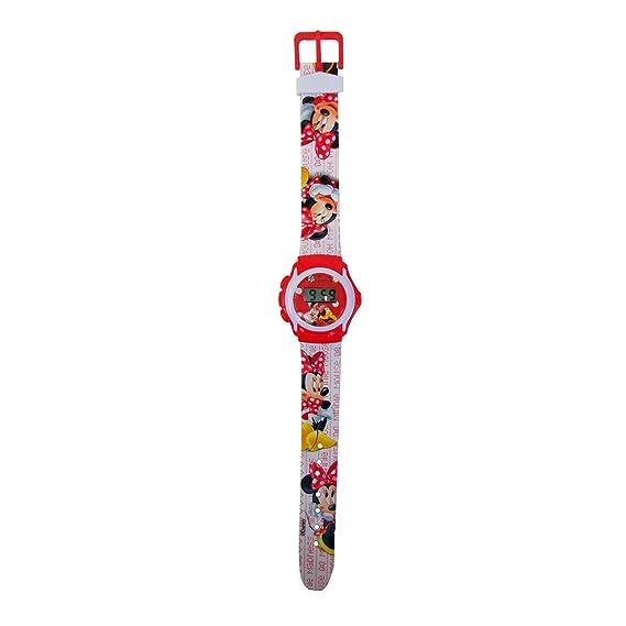 Reloj digital de muñeca, diseño de MINNIE MOUSE función de fecha y hora WD10401. MWS diseño con correa: Amazon.es: Relojes