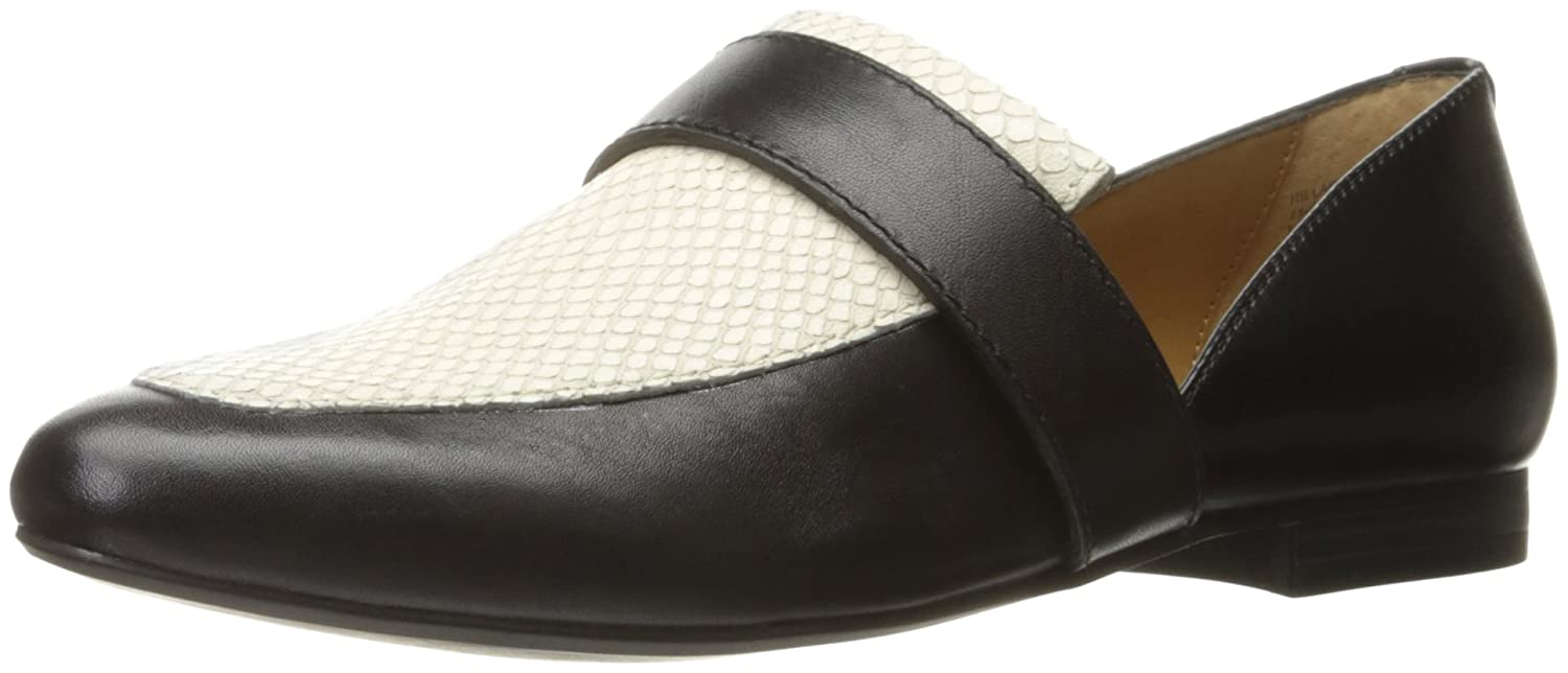 G.H. Bass & Co. Women's Hilary Pointed Toe Flat B01D0RRUES 8.5 B(M) US|Black/Moonstone