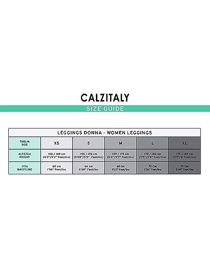 XS CALZITALY Leggings a Quadri Scozzesi Fantasia Tartan con Cintura Alta Modellante S M XL L Made in Italy Grigio