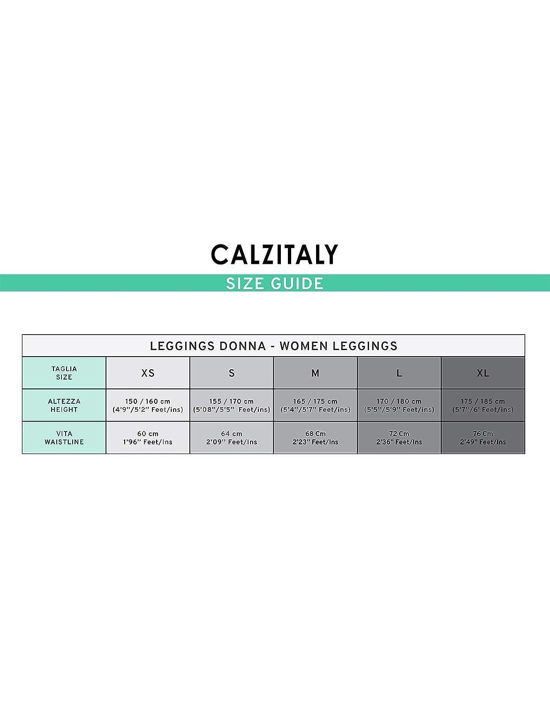 XL L Made in Italy S Grigio CALZITALY Leggings a Quadri Scozzesi Fantasia Tartan con Cintura Alta Modellante M XS