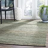 Safavieh CAP503B-5 Cape Cod Collection Flat Weave Handmade Area Rug, 5' x 8', Sage/Natural