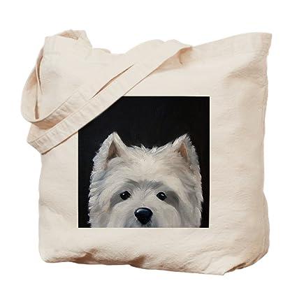 45c57822375 Amazon.com: CafePress WESTIE DOG &Quot;Peek-A-Boo&Quot; Natural ...
