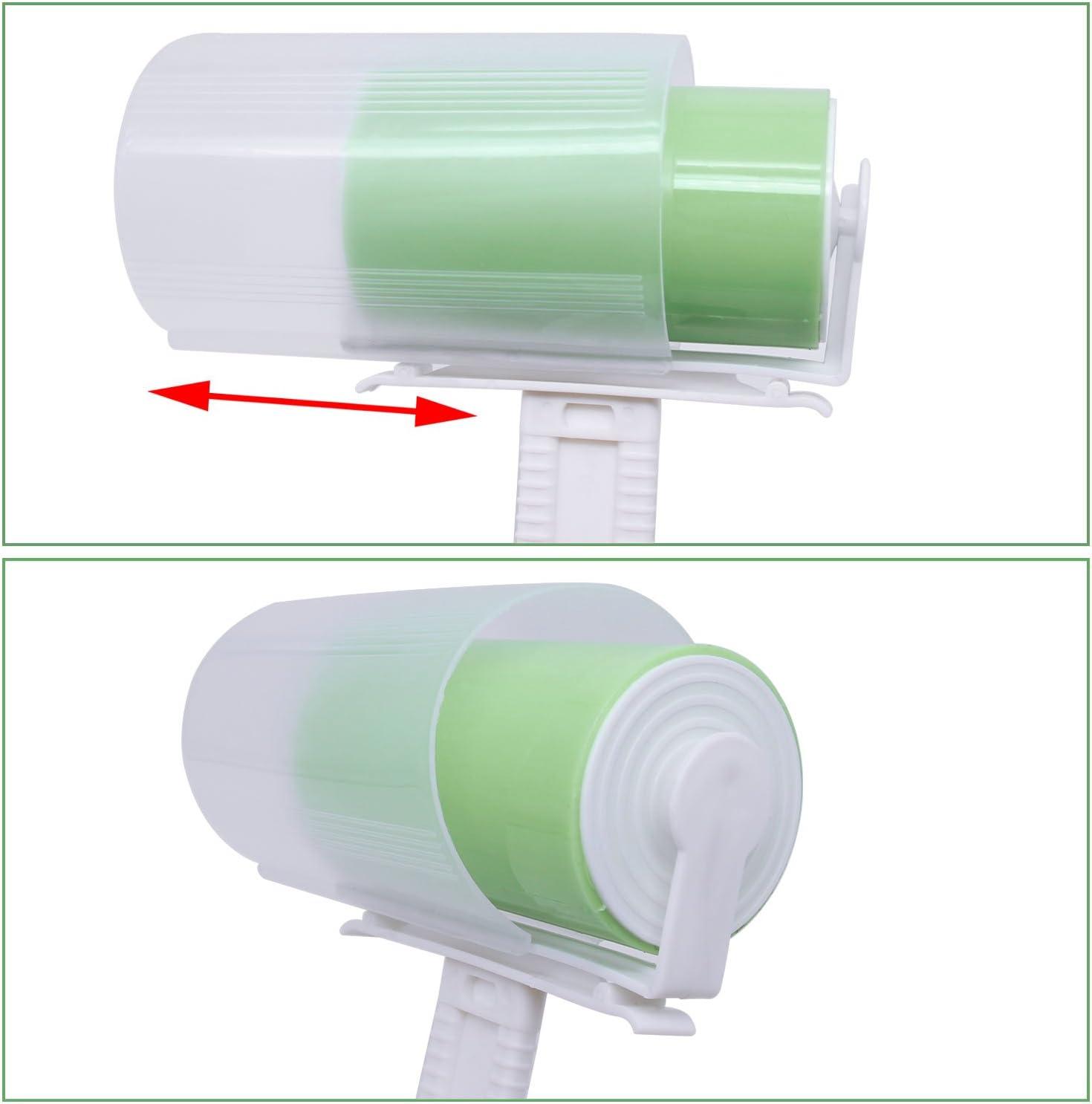 vert HG162G Xcellent Global Rouleaux Brosse adh/ésive lavable et r/éutilisable enl/ève les poils danimaux et les peluches un set de 4 pi/èces