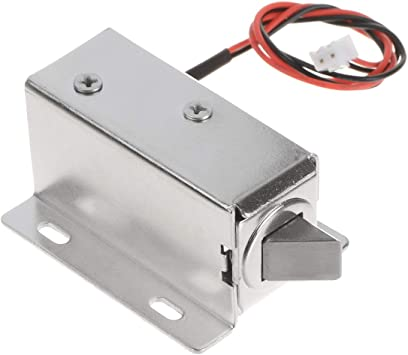 Amazon Com Yxq Dc 12v Solenoid Door Lock Open Frame Type Electric Electromagnetic W Mount Board Cabinet Drawer 0 6amp 8w 10mm Stroke Home Improvement