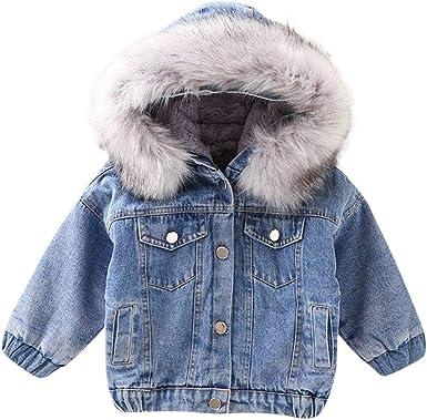 Baby Boys Girls Toddler Kids Cute Bear Ear Fleece Button Down Coat
