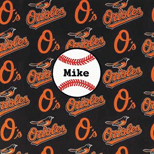 Baltimore Orioles Baseball Fabric Personalized ()