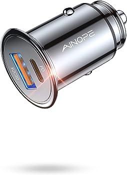 AINOPE AV843 36W PD & QC3.0 USB C Car Charger