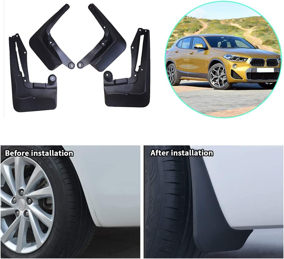Upgraded Car Mud Flaps Mudguards for BMW E60 5 Series 2006-2010 Front Rear Splash Guards Car Fender Styling /& Body Fittings Black 4Pcs