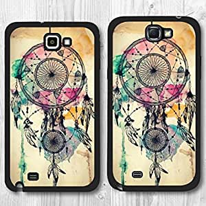 Elfe Boutique Special Own Design Watercolor Dreamcatcher Protective Cover Case For Samsung Galaxy Note 2
