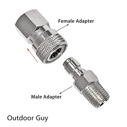 Outdoor Tools Camping & Hiking 8mm Male To Male Foster Fitting Dual Male Quick Connect Adaptor Paintball Scba Customers First