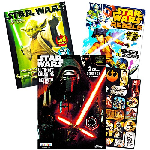 Star Wars Coloring Stickers Posters