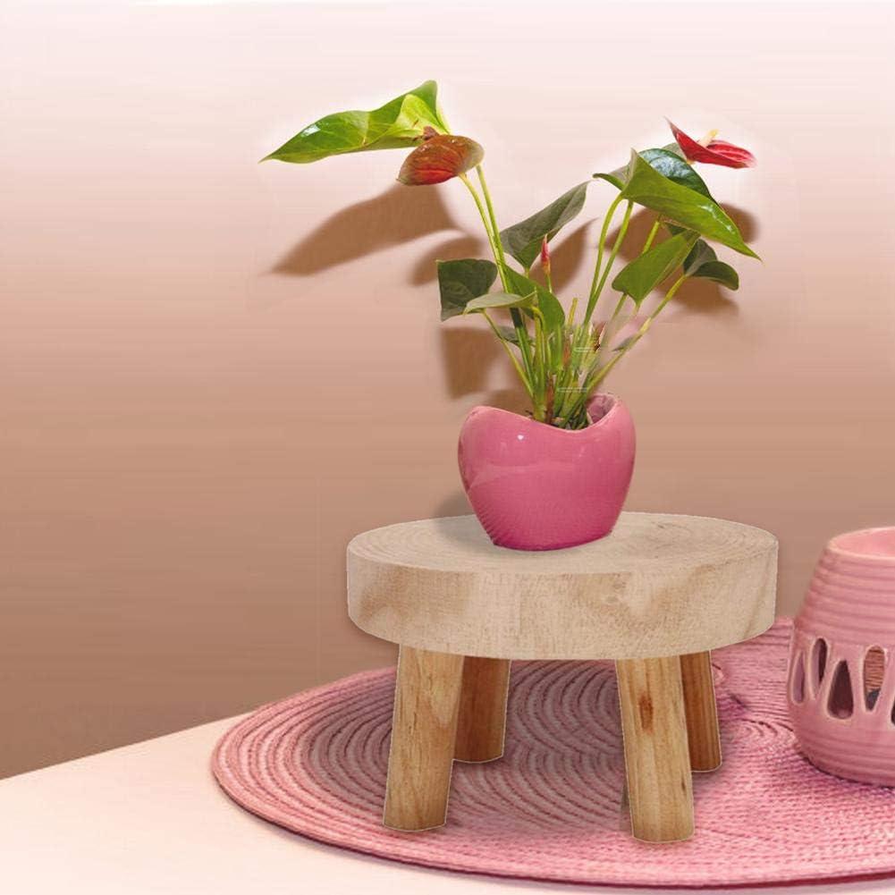 S//M//L Taburete Redondo para Plantas Estanter/ía De Flores Multifuncional para Interiores Y Exteriores Easy-topbuy Soporte para Plantas