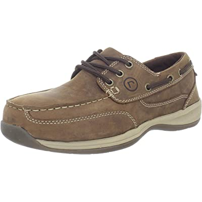 Rockport Works Men's Sailing Club 3 Eye Tie Boat Shoe: Shoes
