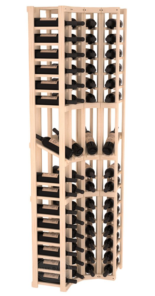 Wine Racks America® Ponderosa Pine 4 Column Display Corner Cellar Kit. 13 Stains to Choose From!