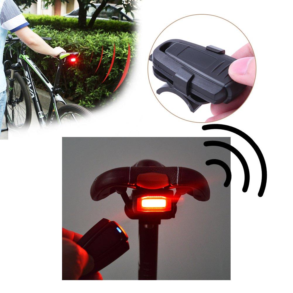 Guangtian 4 In 1 Fahrrad Sicherheitsschloss Wireless Alarm Diebstahlschutz Fernbedienung Neu