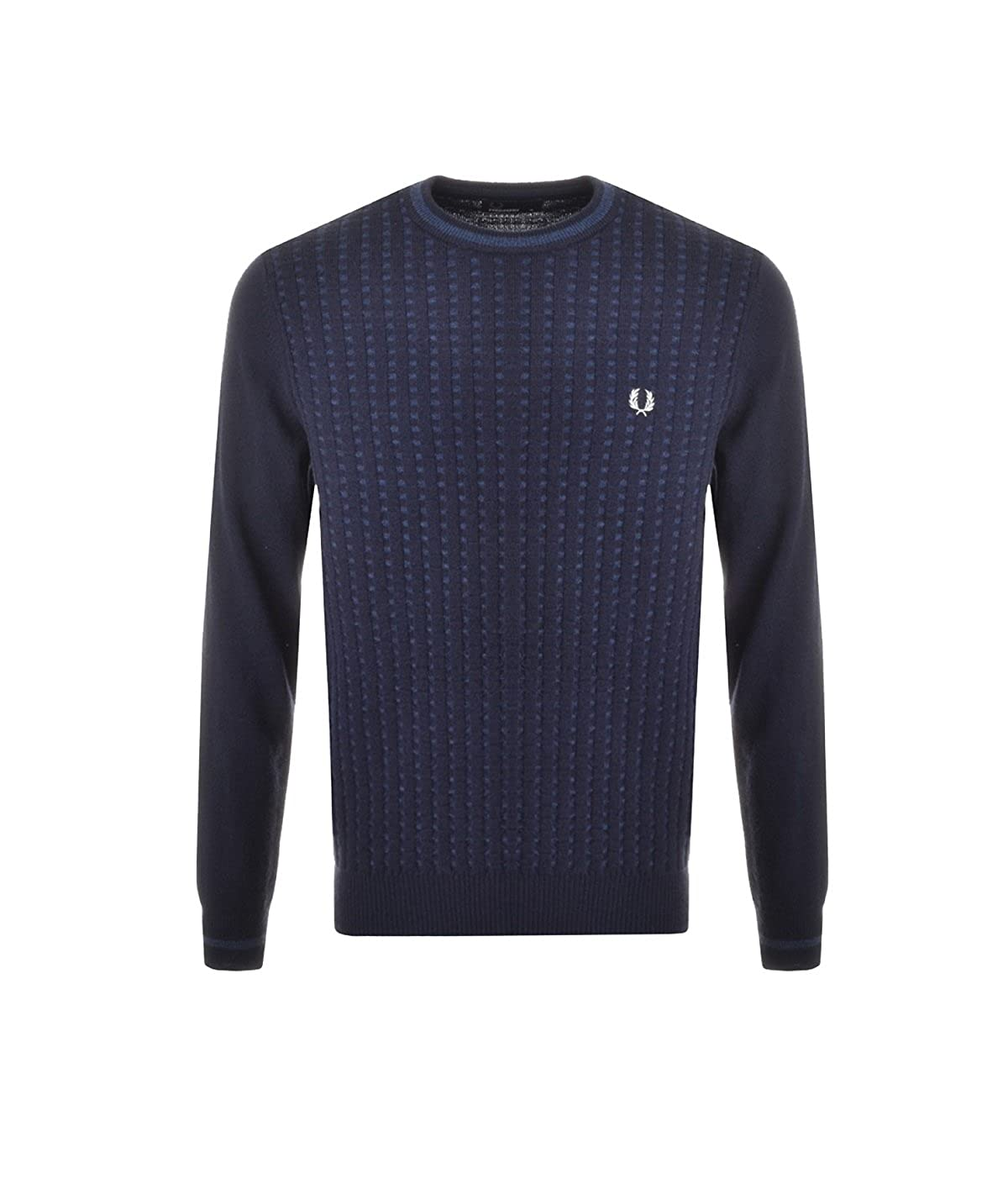 Navy XS Fred Perry Men's Striped Cuff Polo Shirt