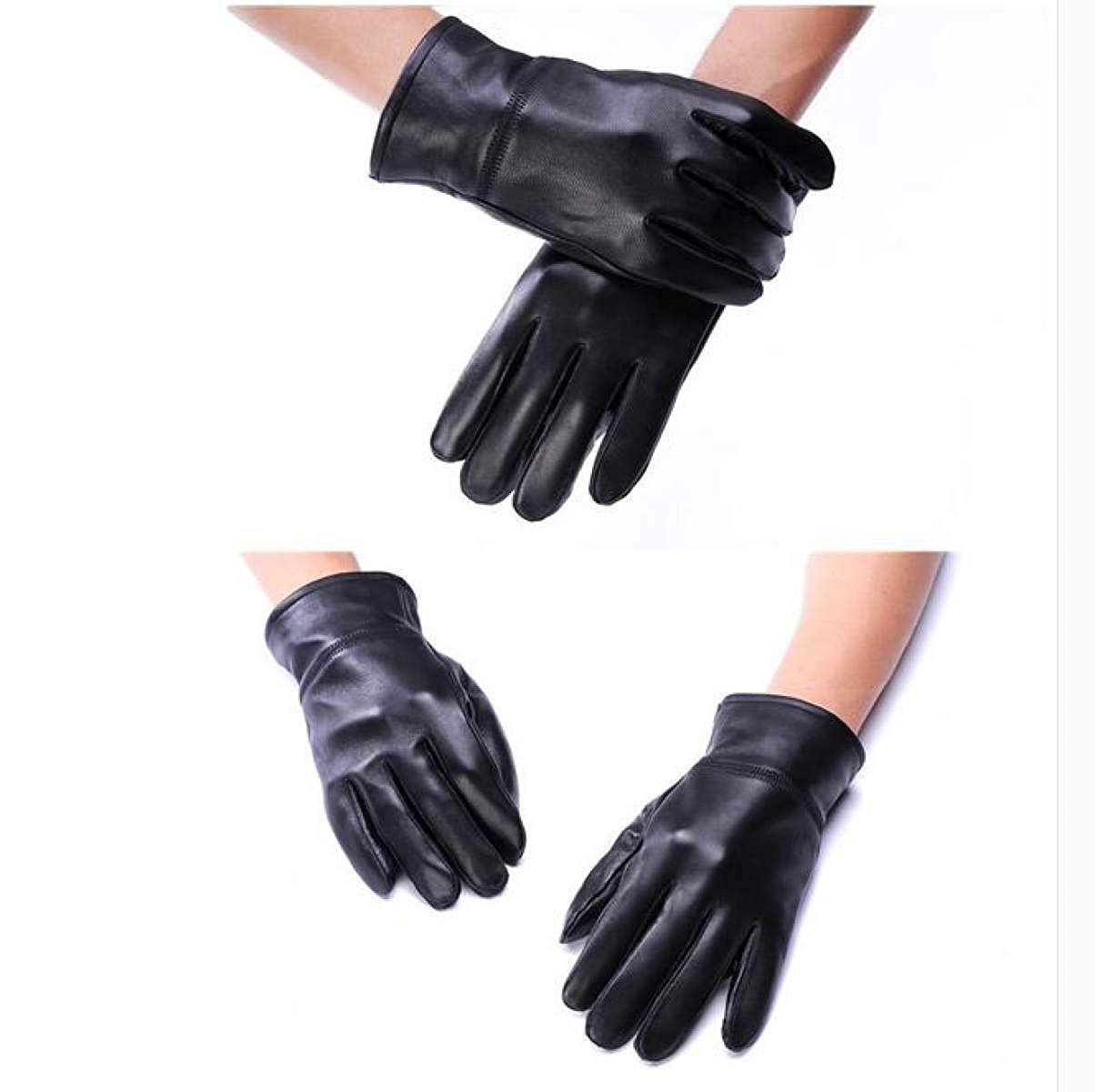 CWJ Gloves Ladies Ride Thicken Warm Autumn and Winter Men's Style,WomenBlack,Large by CWJ (Image #5)