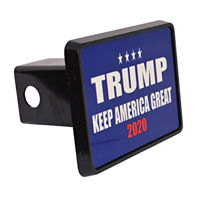 Rogue River Tactical President Donald Trump Trailer Hitch Cover Plug Gift Idea Keep America Great Blue MAGA: Automotive