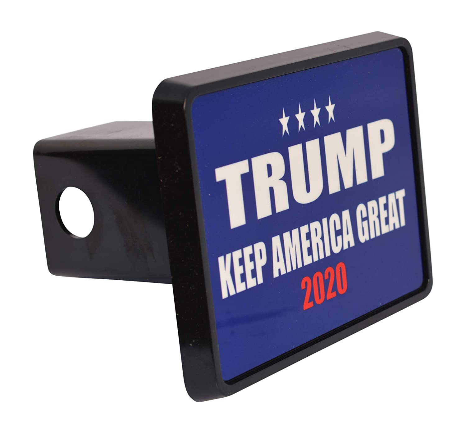 Rogue River Tactical President Donald Trump Trailer Hitch Cover Plug Gift Idea Keep America Great Blue MAGA