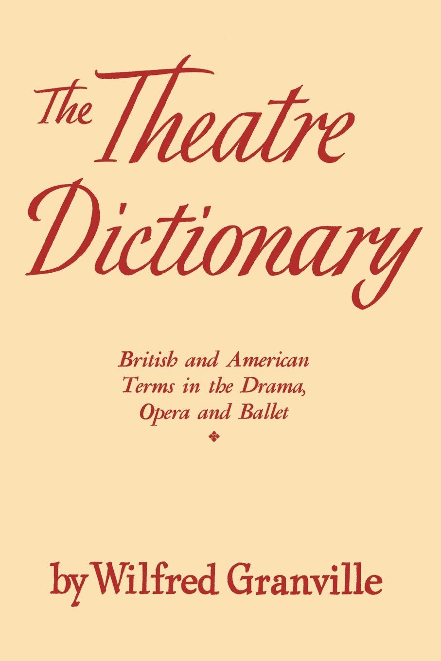The Theatre Dictionary: British and American Terms in the Drama, Opera, and Ballet pdf