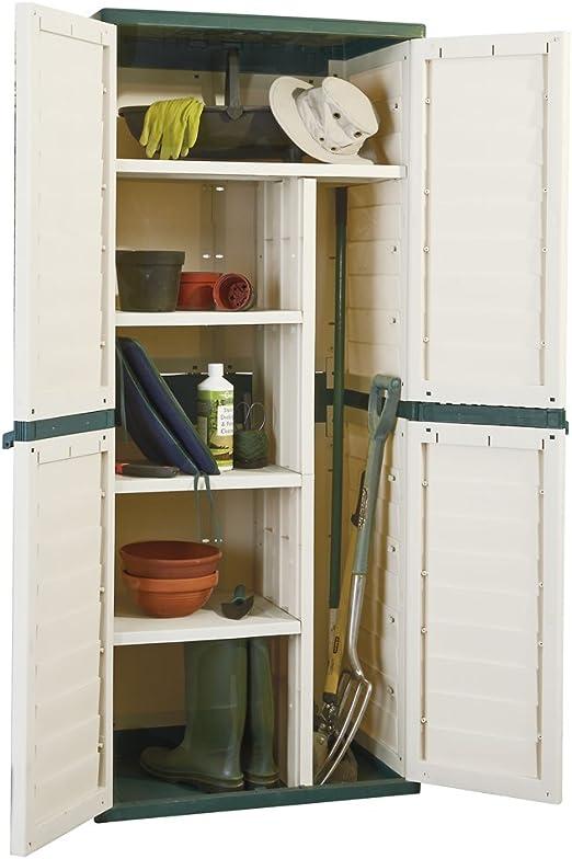 Cobertizo resistente al agua con sistema de cierre para jardín o garaje: Amazon.es: Jardín