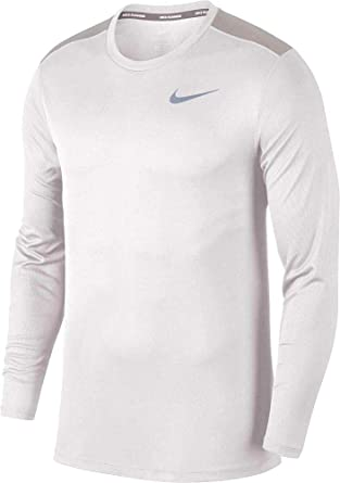 77512b52 Image Unavailable. Image not available for. Color: Nike Mens Dry Fit Breathe  Running Long Sleeve T-Shirt ...